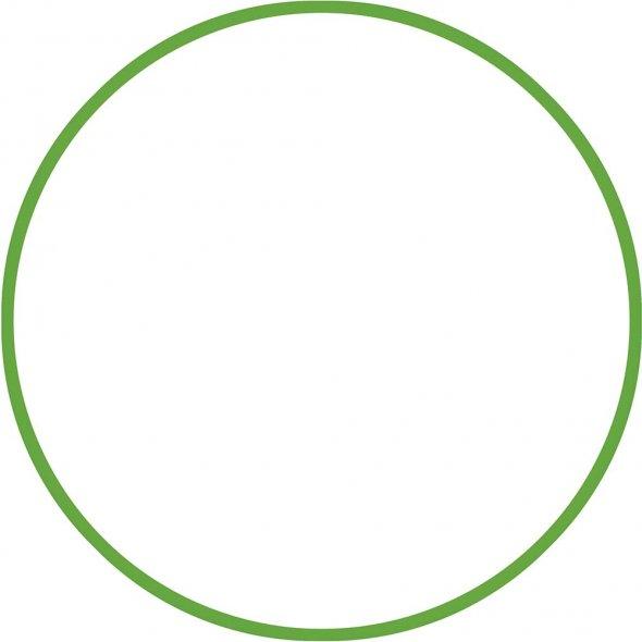 Στεφάνι Hula Hoop Πράσινο 70cm Amila 48059