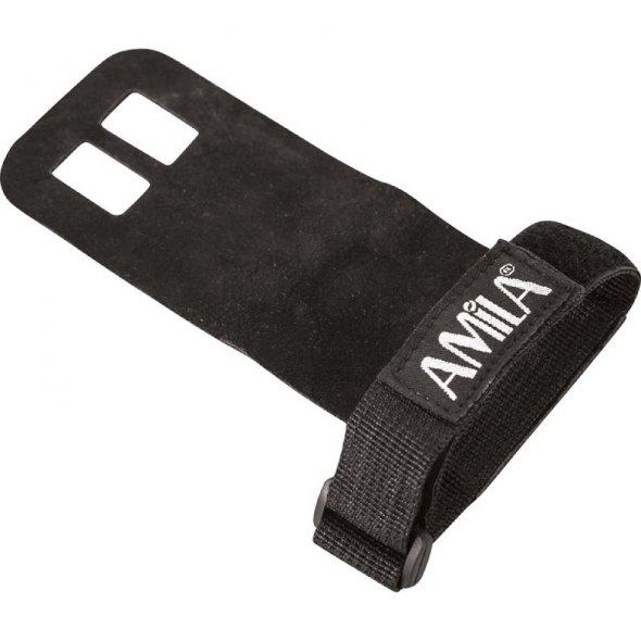 γάντια crossfit 2 grips holes μαύρο small medium 83288 amila