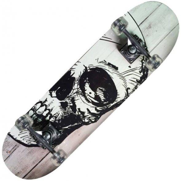 skateboard white skull netreme