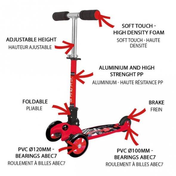 scooter grand prix με τρις ρόδες nextreme χαρακτηριστικά
