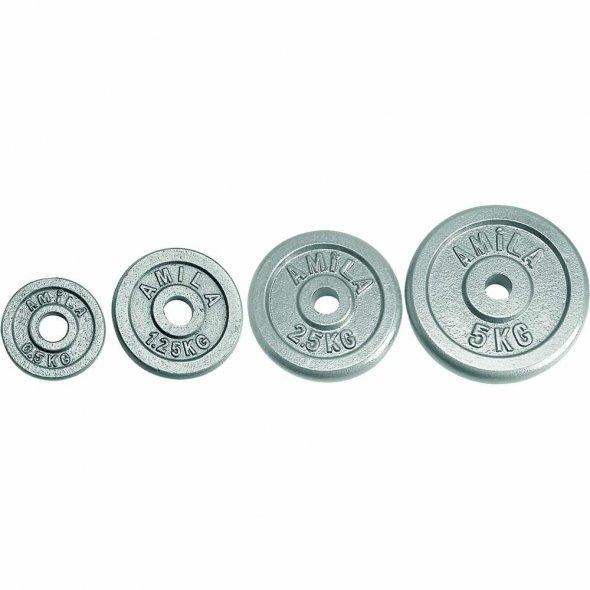 Δίσκος Σίδερο Γκρί 5kg Φ28 Amila 44479