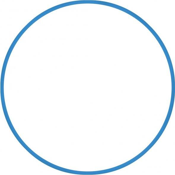 στεφάνι ρυθμικής 70cm μπλε amila
