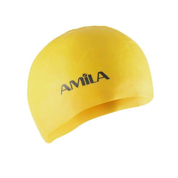 σκουφάκι κολύμβησης κίτρινο Amila 47015